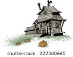 old broken down  scary... | Shutterstock .eps vector #222500665