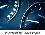 detail of a tachometer in a car. | Shutterstock . vector #222519385