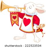 illustration of bunny royal... | Shutterstock .eps vector #222523534