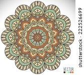 mandala. round ornament pattern....   Shutterstock .eps vector #222526699