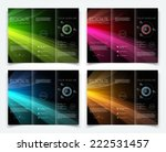 vector collection of dark tri... | Shutterstock .eps vector #222531457