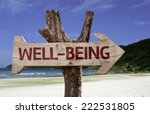 well being wooden sign with a... | Shutterstock . vector #222531805