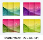 vector collection of tri fold... | Shutterstock .eps vector #222533734