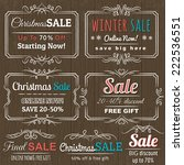 christmas  labels with sale... | Shutterstock .eps vector #222536551