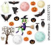 halloween stickers | Shutterstock . vector #222537721