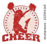 cheer jump design   vintage is... | Shutterstock . vector #222541165