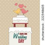 wedding design over brown... | Shutterstock .eps vector #222548605