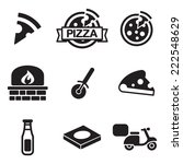 pizza icons | Shutterstock .eps vector #222548629