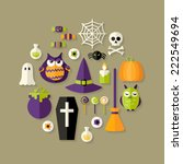 illustration of halloween and... | Shutterstock .eps vector #222549694