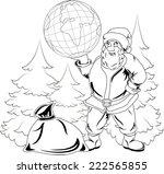 illustration of smiling santa...   Shutterstock .eps vector #222565855