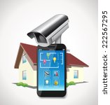 home automation   cctv and... | Shutterstock .eps vector #222567295