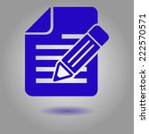 document with pen icon.