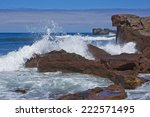Waves Crashing Onto Rocks