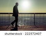 a dark silhouette of an... | Shutterstock . vector #222572407