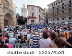 valencia  spain   october 9 ... | Shutterstock . vector #222574531