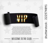 vip background with realistic... | Shutterstock .eps vector #222574891