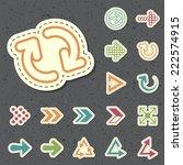 set of universal standard new... | Shutterstock .eps vector #222574915