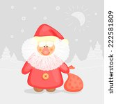 christmas illustration with... | Shutterstock .eps vector #222581809