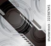 silver black light abstract... | Shutterstock .eps vector #222587641