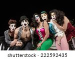 surprised group of character... | Shutterstock . vector #222592435