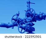 three oil pipeline close ups of ... | Shutterstock . vector #222592501