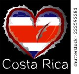 costa rica flag with in claw... | Shutterstock .eps vector #222593281