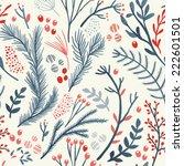 hand drawn seamless vector... | Shutterstock .eps vector #222601501