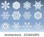 snowflake silhouette icons  ...