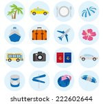 tourism icons vector | Shutterstock .eps vector #222602644