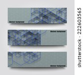 set of banner templates with... | Shutterstock .eps vector #222603565