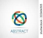 line design logo  geometric...   Shutterstock . vector #222606505
