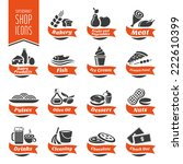 supermarket shelf icon set   4 | Shutterstock .eps vector #222610399