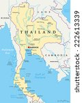 thailand political map with... | Shutterstock .eps vector #222613339