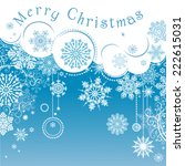 christmas background with... | Shutterstock .eps vector #222615031
