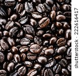 coffee beans isolated on white... | Shutterstock . vector #222616417