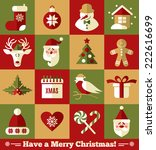 christmas design icons set.... | Shutterstock .eps vector #222616699