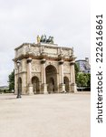 triumphal arch  arc de triomphe ... | Shutterstock . vector #222616861