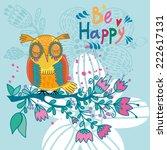 cute illustration of cartoon... | Shutterstock .eps vector #222617131