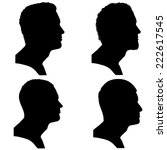 vector silhouettes people in... | Shutterstock .eps vector #222617545