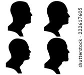 vector silhouettes people in... | Shutterstock .eps vector #222617605