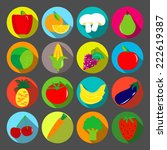 vegetables and fruits vector...   Shutterstock .eps vector #222619387