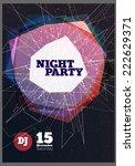night party vector flyer...   Shutterstock .eps vector #222629371