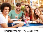 group of young friends enjoying ... | Shutterstock . vector #222631795