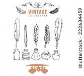 vintage retro old nib pen...   Shutterstock .eps vector #222634459