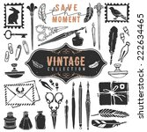 vintage retro old things writer ... | Shutterstock .eps vector #222634465