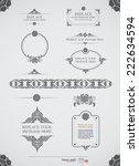 vector set  calligraphic design ... | Shutterstock .eps vector #222634594