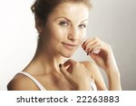 a happy young woman with facial ... | Shutterstock . vector #22263883