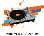 dj turntable  vector    Shutterstock .eps vector #22264285