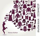 women's fashion background.... | Shutterstock .eps vector #222646219