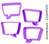text bubble violet dimensional...   Shutterstock . vector #222649351